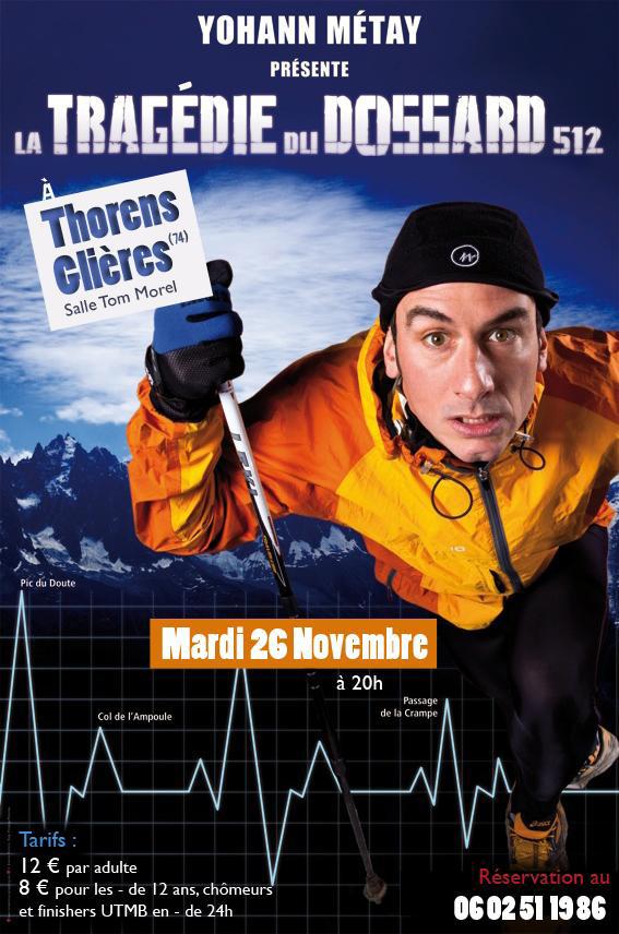 Doc1 1 - Humour : Yohann Métay et la tragédie du dossard 512 à Thorens Glières.