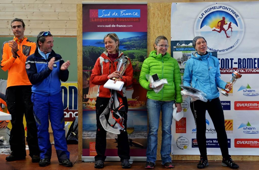 5 Romeufontaine 2014 podium 40 km dames Photo crédit www.christianphoto 1024x675 - Trails blancs : Résultats de la Romeufontaine à Font-Romeu (66)