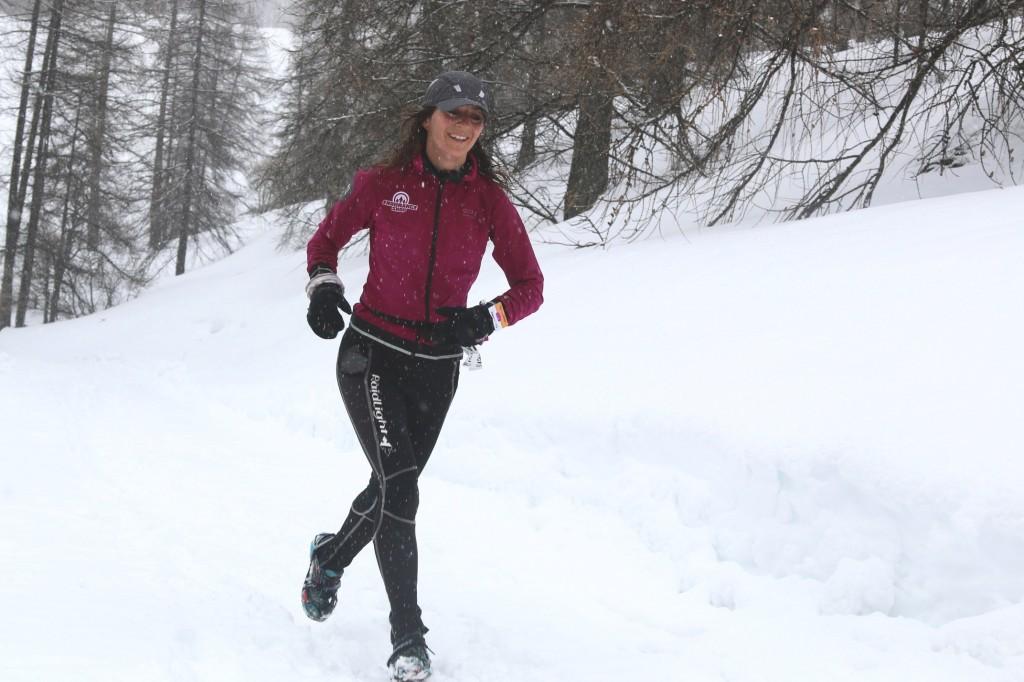 1 Fanny Nedelec première 19 km photo Robert Goin 1024x682 - Résultats et vidéos snow trail Ubaye Salomon