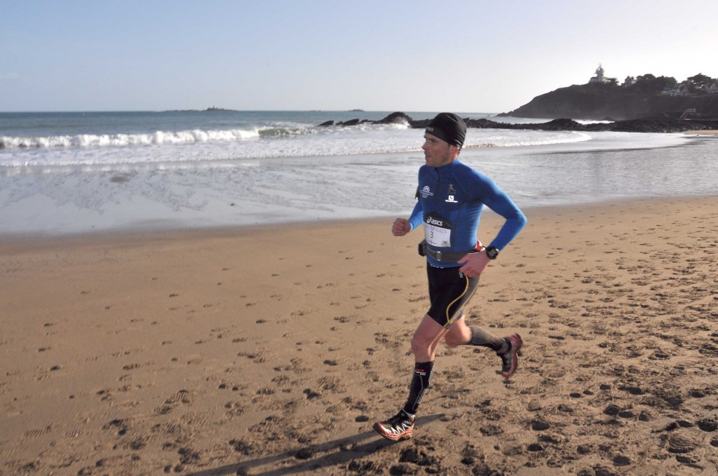 3 Laurent Jaffré vainqueur du 45 km photo Manu Mignard organisation trail Glazig