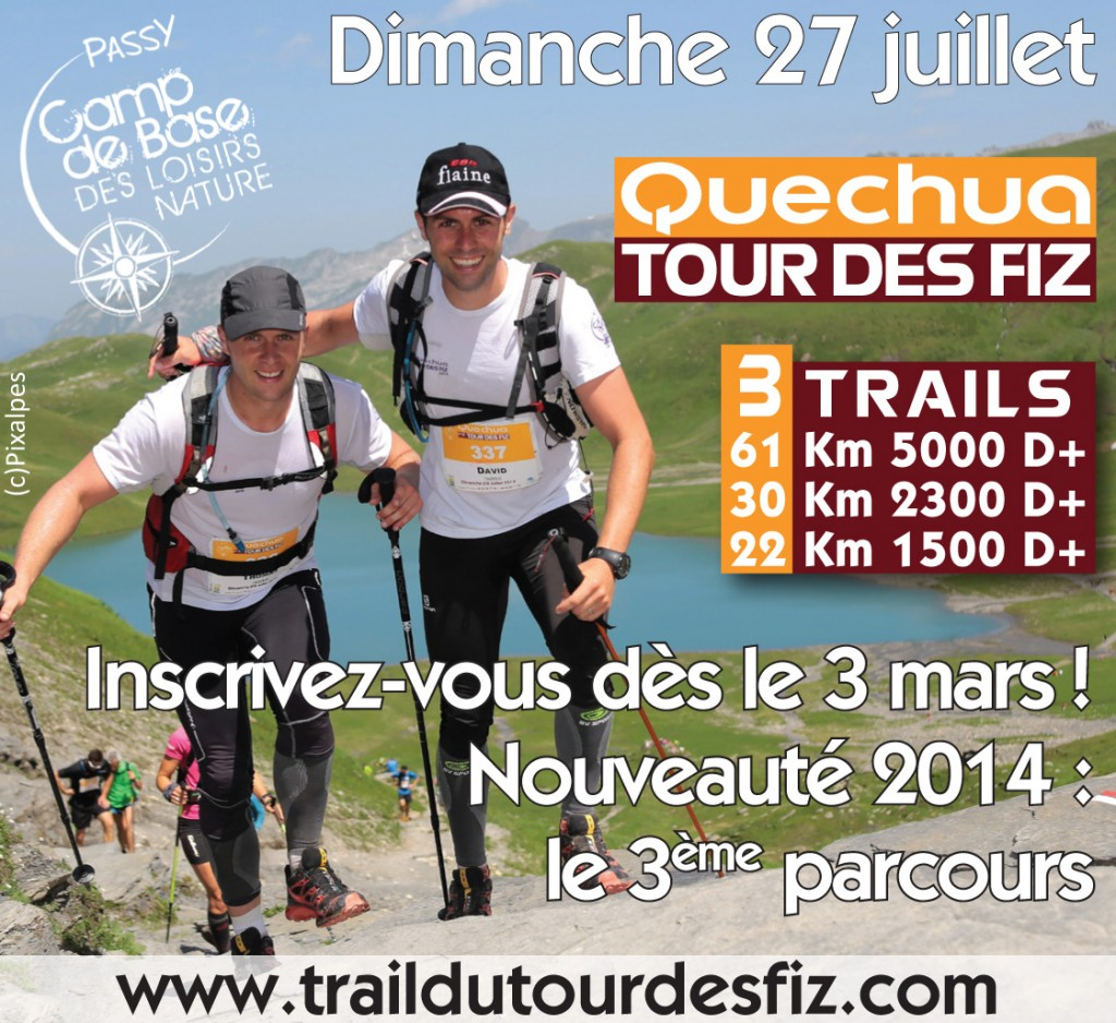 Inscription Quechua Tour des Fiz - 3 mars 2014