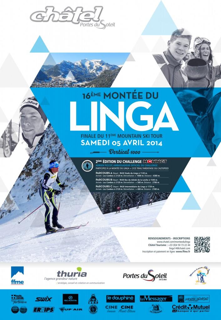 LINGA Affiche 2014 706x1024 - 2ème édition du Challenge Ski alpinisme/trail MONNET