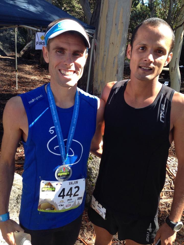 Vajin Armstrong, vainqueur du SkyMarathon® et son dauphin David Byrne (phot : Ultra168)