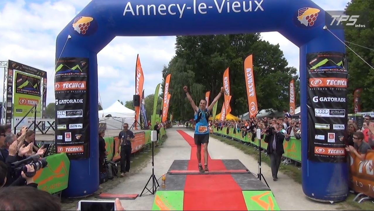 spehler - Maxi Race 2014 : l'arrivée de Sébastien Spehler, Fabien Antolinos, Patrick Bringer et Xavier Thévenard.