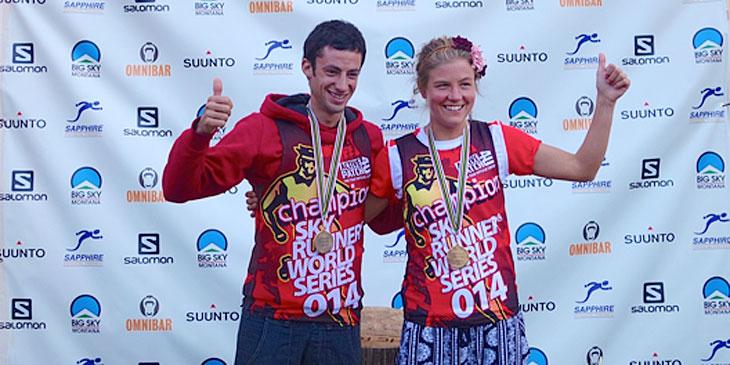 2014 Skyrunner Ultra Series winners Kilian Emelie. ┬® iRunFar - Les deux font la paire ! Kilian Jornet et Emelie Forsberg, champions des Ultra Series après The Rut 50 K