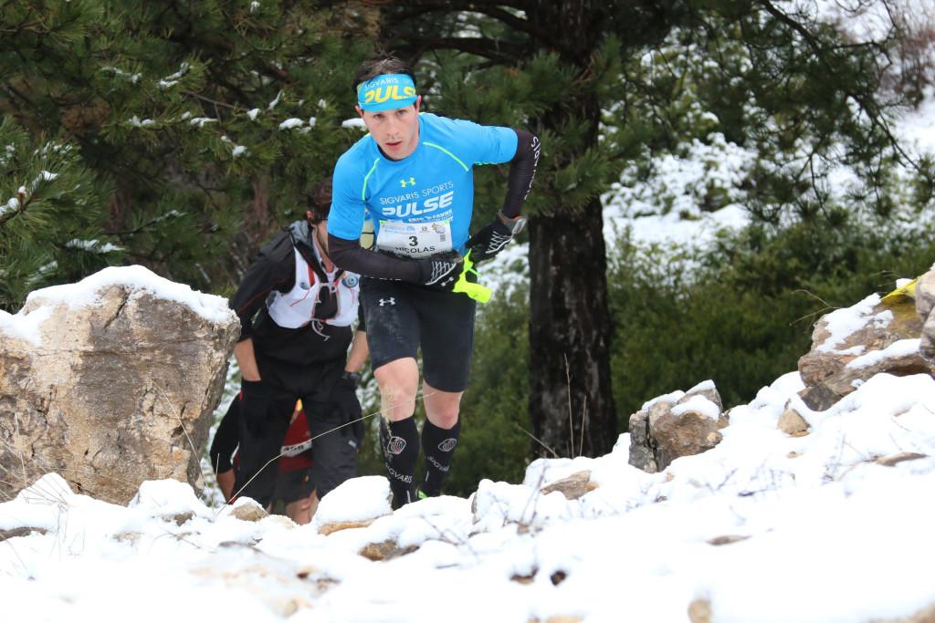 3 Nicolas Martin 2ème 44 km trail du Ventoux 2015 photo Robert Goin 1024x683 - Ergysport Trail du Ventoux : Céline Lafaye et Julien Rancon, vainqueurs du 44km (par Robert Goin) / 15-03-15