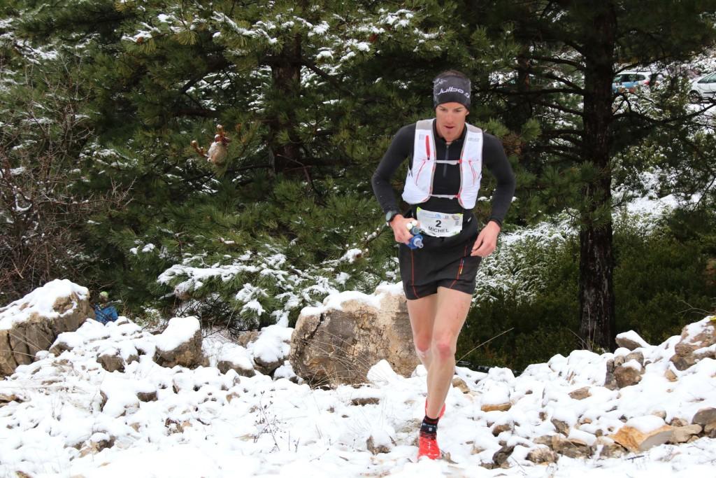 4 Michel Lanne 3ème 44 km trail du Ventoux 2015 photo Robert Goin 1024x683 - Ergysport Trail du Ventoux : Céline Lafaye et Julien Rancon, vainqueurs du 44km (par Robert Goin) / 15-03-15
