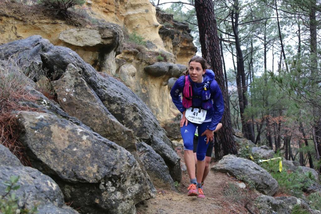 5 Anne Lise Rousset 2ème 44 km trail du Ventoux 2015 photo Robert Goin 1024x683 - Ergysport Trail du Ventoux : Céline Lafaye et Julien Rancon, vainqueurs du 44km (par Robert Goin) / 15-03-15