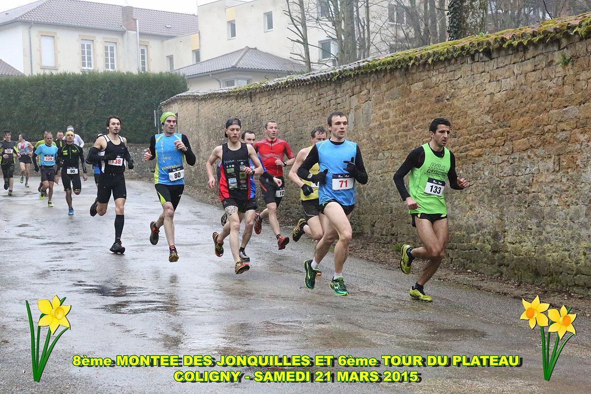 coligny15a - RESULTATS, COMPTE RENDU ET PHOTOS DE LA MONTEE DES JONQUILLES, RAMPE DE LANCEMENT DU CHALLENGE DE L'AIN DE COURSE EN MONTAGNE / 21-03-15