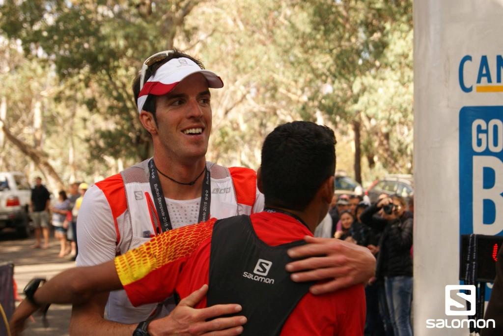 3 Michel Lanne arrivée du Buffalo Stampede Skymarathon souce photo facebook.comsalomonrunning