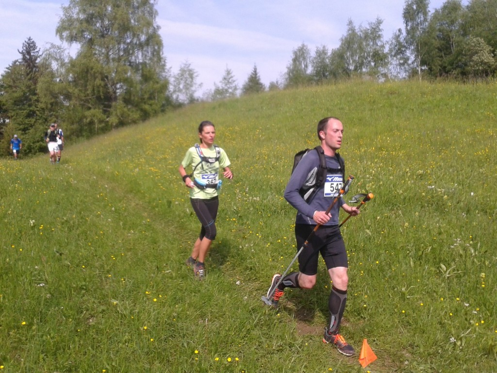 Aurélie Caucal sur le 23km