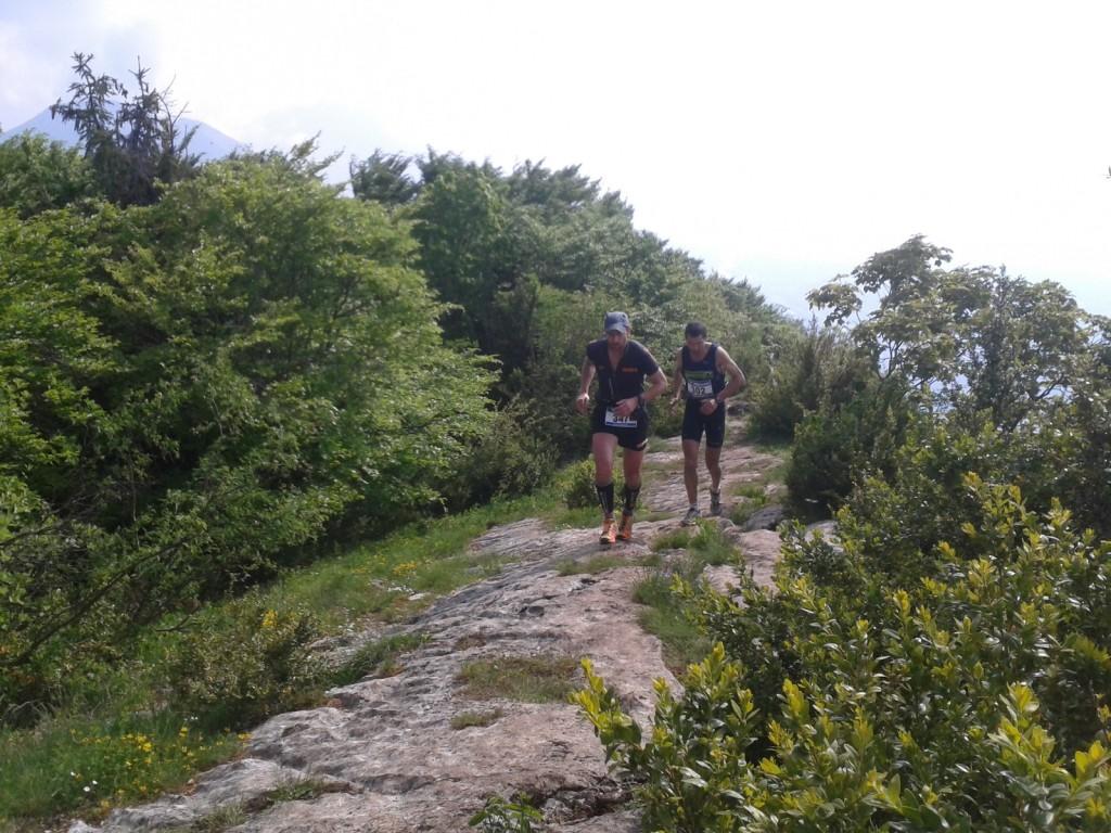 Brun et Avrillon en haut de la roche du guet