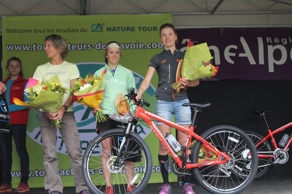 podium du 27km avec Corail Bugnard