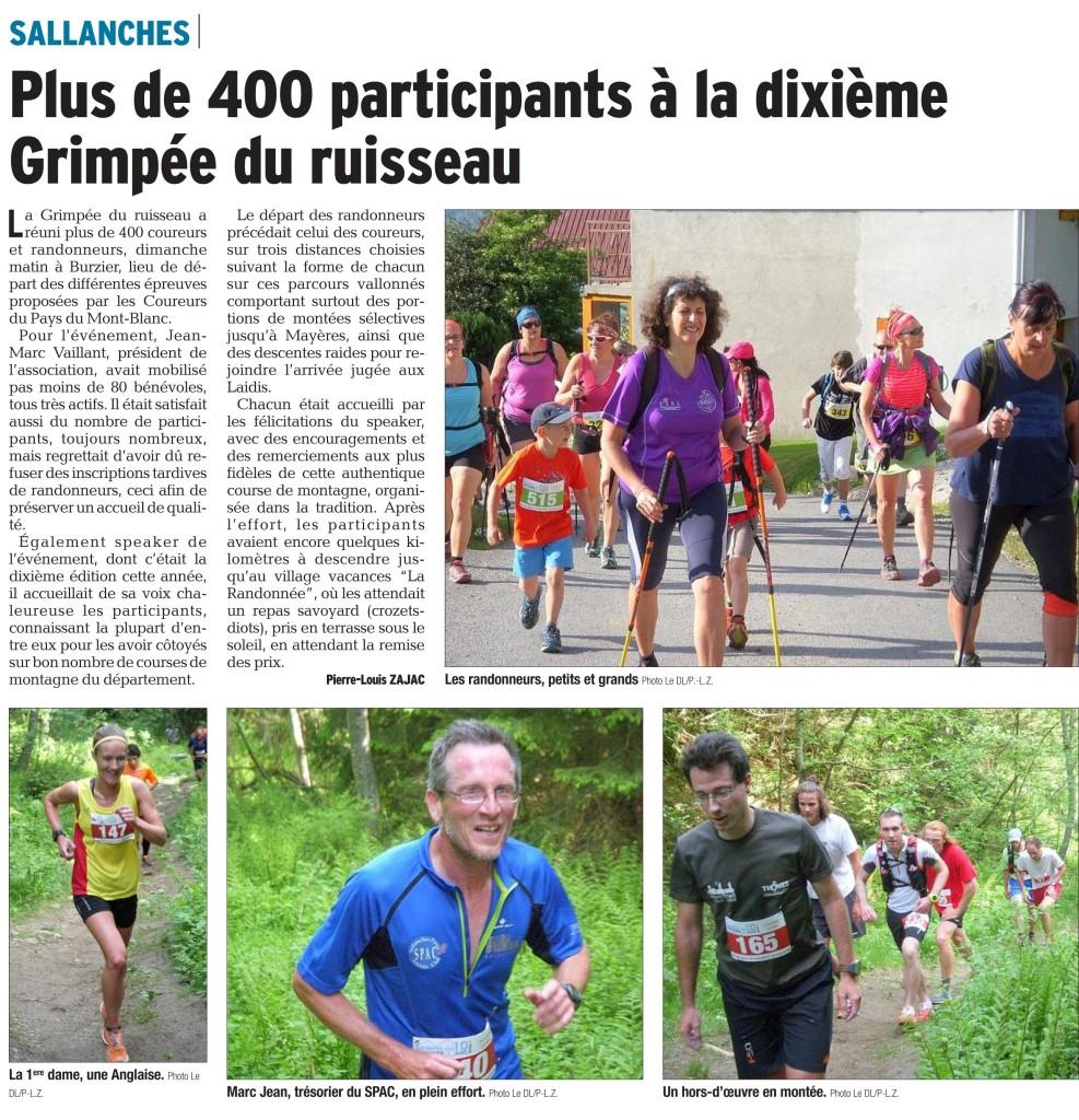 PDF Page 12 edition du mont blanc 20150602 987x1024 - RESULTATS ET ARTICLES DU « DAUPHINE LIBERE » DE LA GRIMPEE DU RUISSEAU / 31-05-15