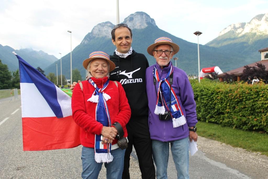pascal balducci et des supporters français