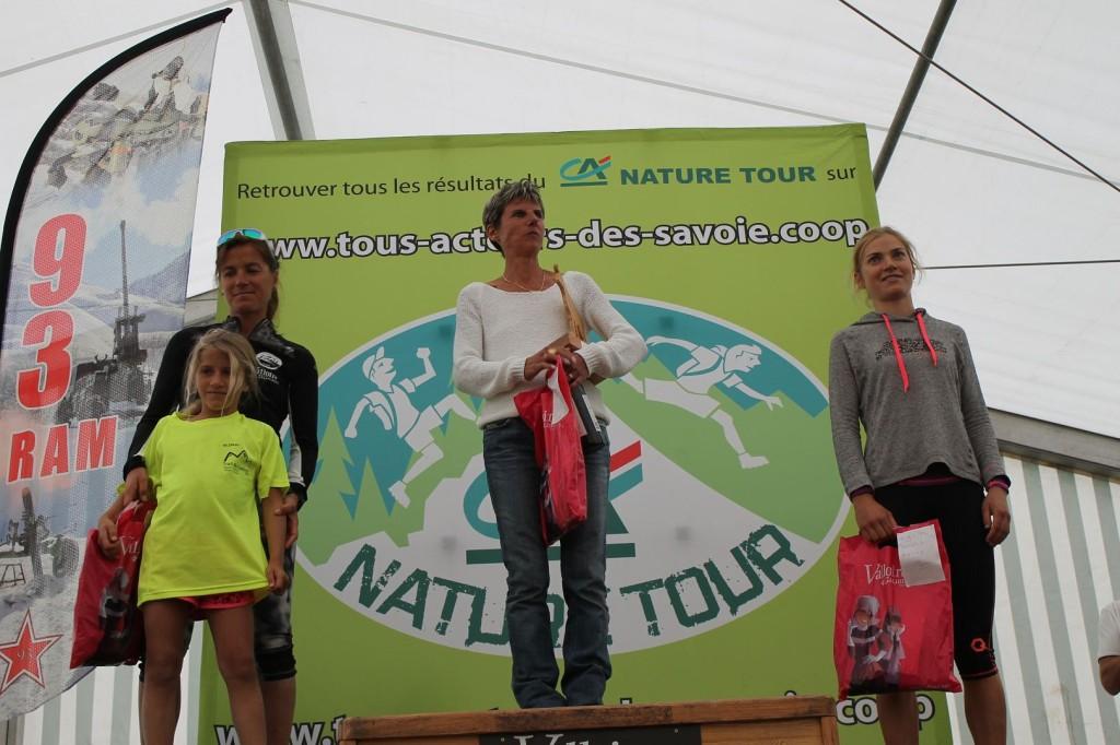 Podium Filles trail des Aiguilles 1024x682 - TRAIL DU GALIBIER : la belle envolée de SNICK ! Résultats, compte rendu et photos (reportage d'Alexandre Garin). Vidéo du Nature tour / 23-08-15