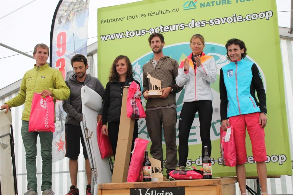 podium long hommes et femmes