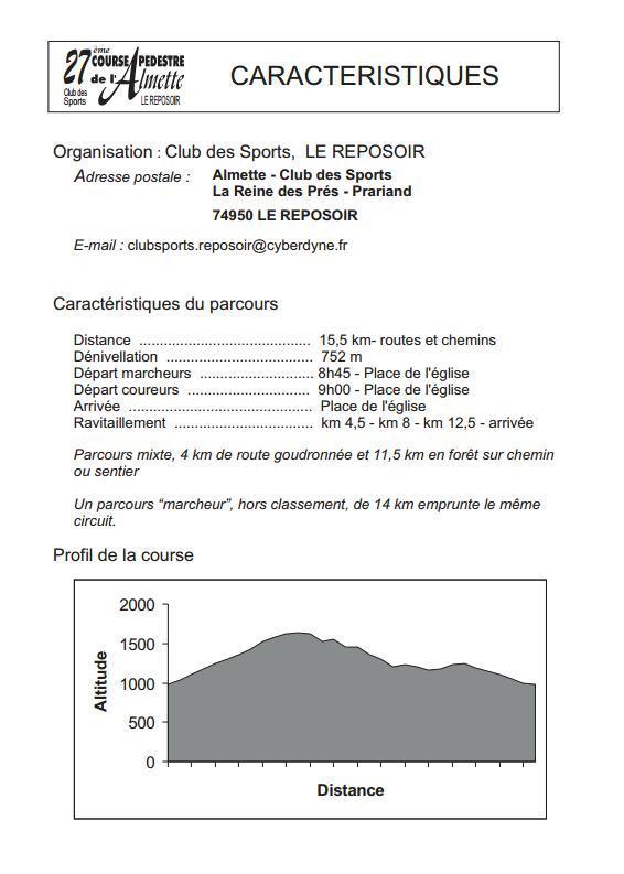 programme  almette2 2015jpg Page2 - Course Pédestre de l'Almette au Reposoir (74) / 09-08-15