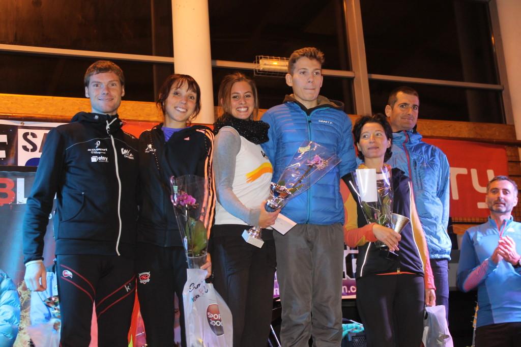 podium du 10km hommes et femmes
