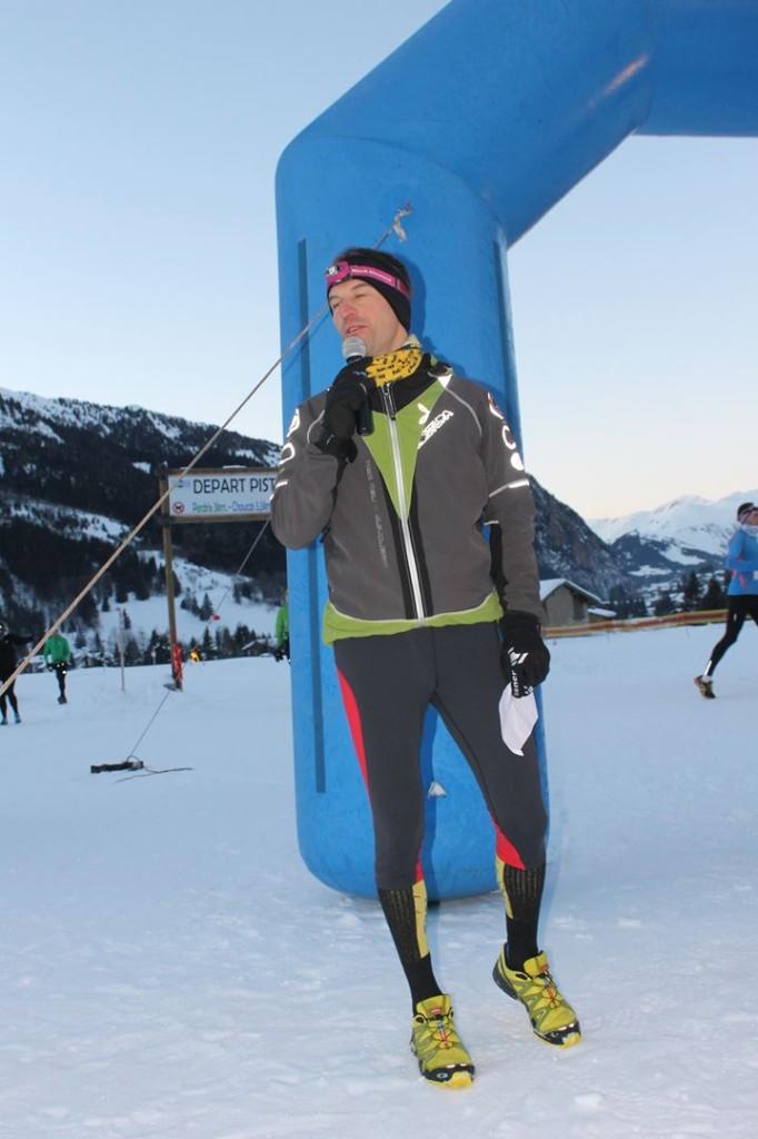 Grégory Acs l'un des organisateurs des trails de Vanoise