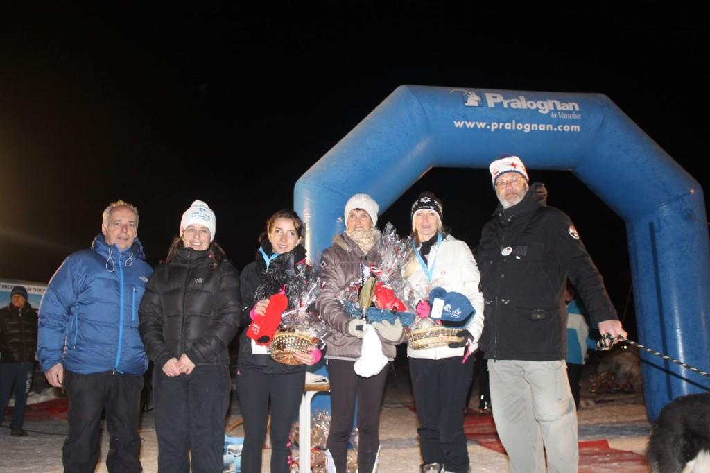 podium féminin court 2 1024x682 - TRAIL DE l'INUIT 2016 à Pralognan la Vanoise : Résultats et compte rendu.