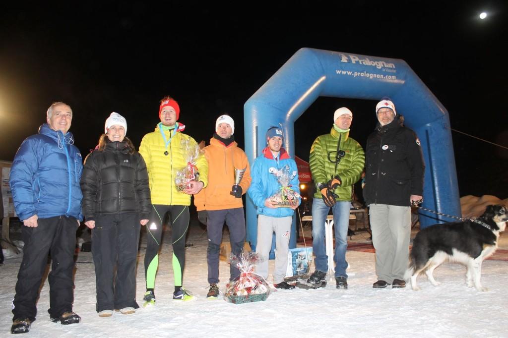 podium hommes du 15km bis 1024x682 - TRAIL DE l'INUIT 2016 à Pralognan la Vanoise : Résultats et compte rendu.