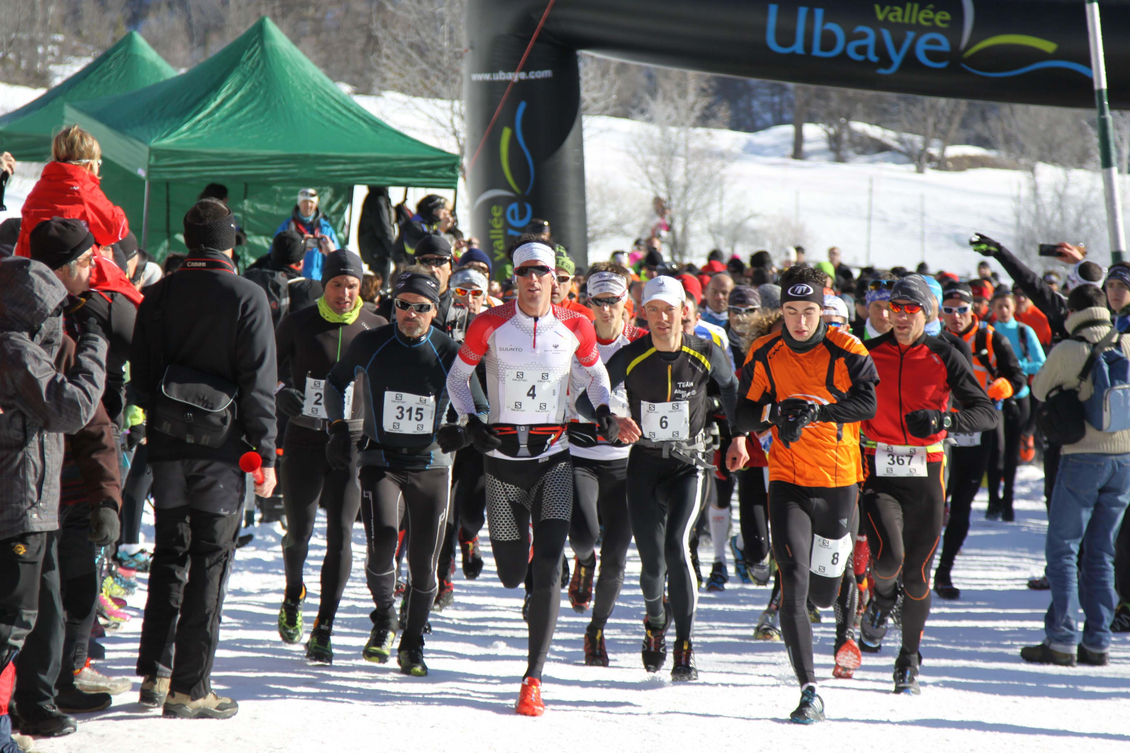 3 Ambiance Ubaye Snow Trail Salomon photo Robert Goin - PRESENTATION DE L'UBAYE SNOW TRAIL SALOMON / 14-02-16