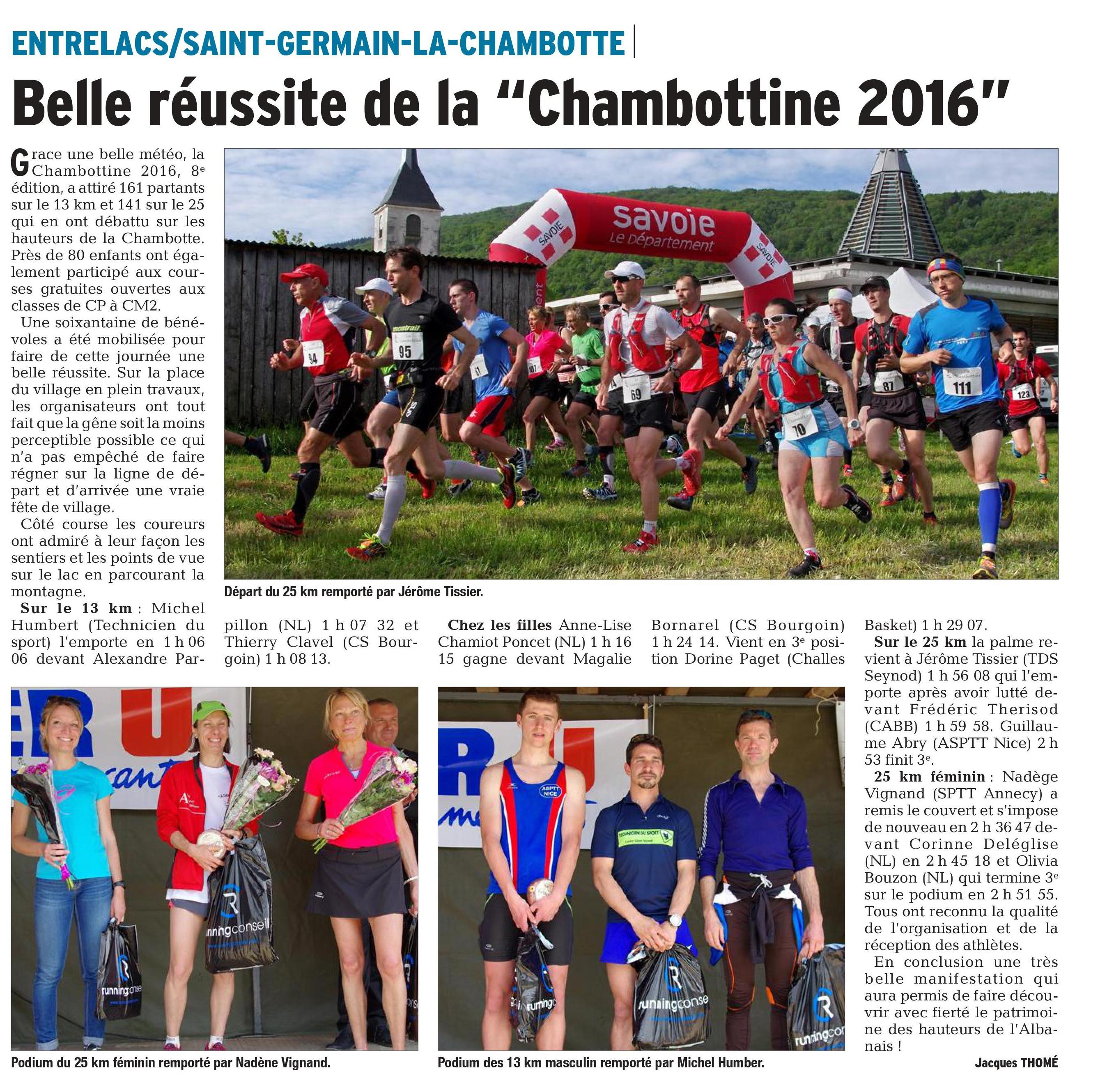 0001 1 - RESULTATS, COMPTE RENDU ET PHOTOS DE LA CHAMBOTTINE / 08-05-16