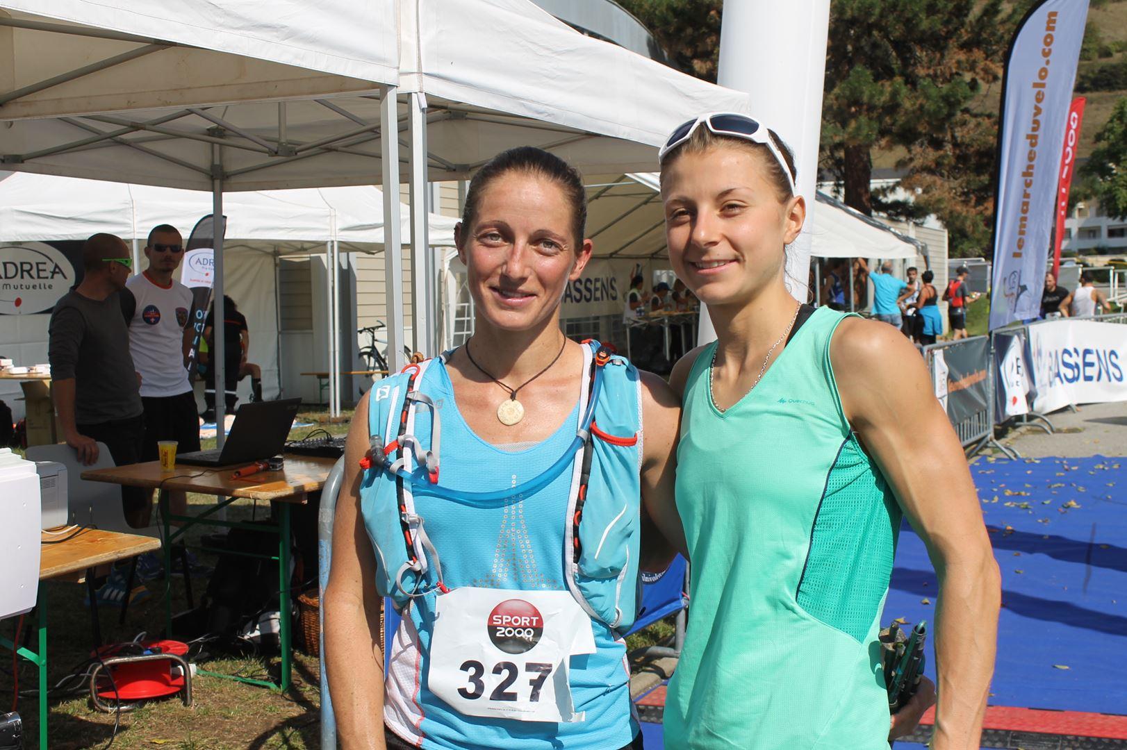"""Delphine Coudurier 1ère du 30 km avec Cindy Lombar - RESULTATS ET COMMENTAIRES DE LA 3EME EDITION DE LA """"NIVOLET CLASSIC"""" Saint Alban de Leysse (73)"""