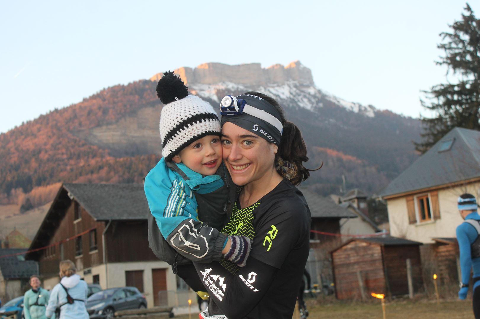 Célia Chiron 1ère femme du 16km - RESULTATS ET COMMENTAIRES DU TRAIL DU SAPPEY EN CHARTREUSE (38) -18-02-2017