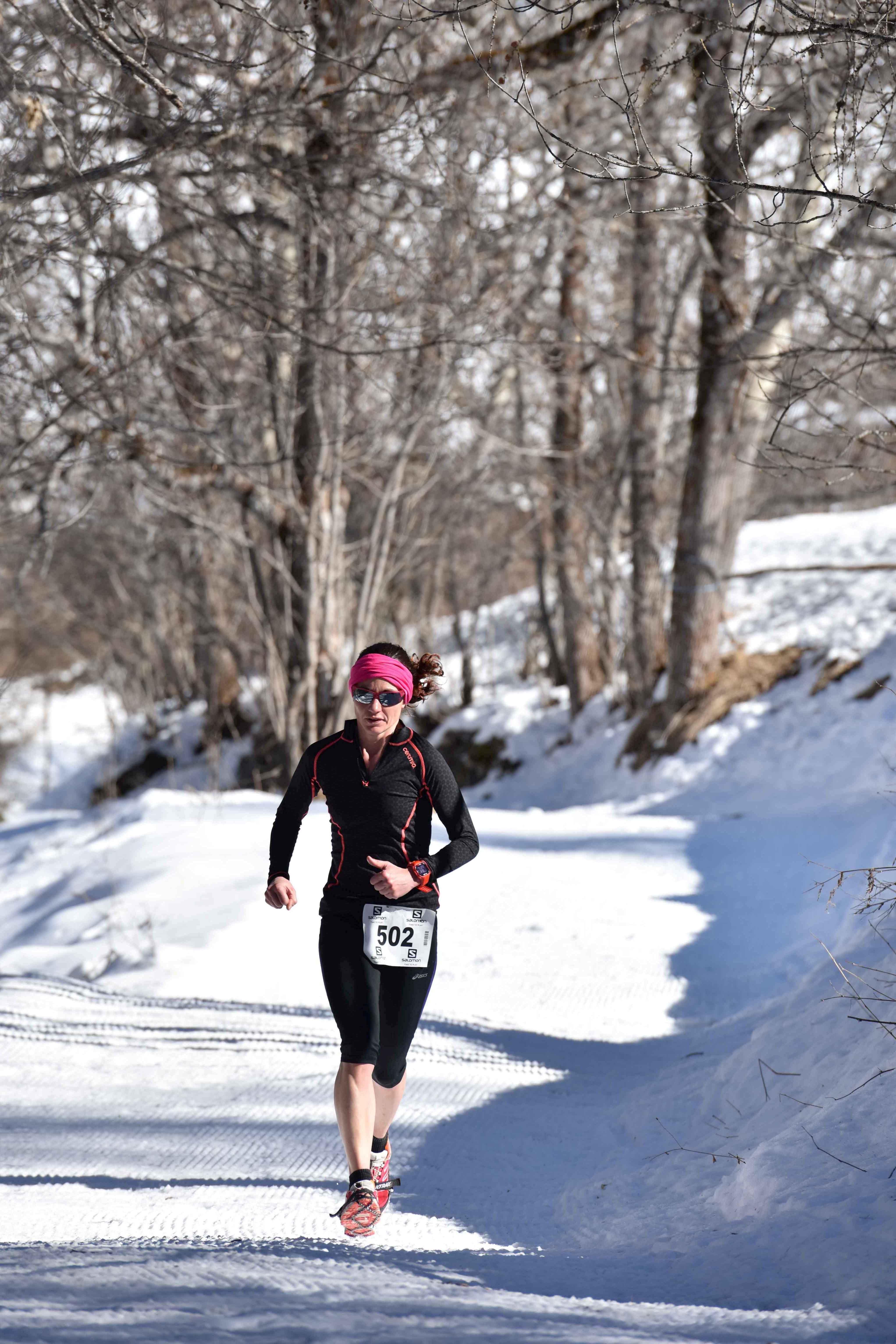 Laetitia Dardanelli vainqueur 9 km photo JMK Consult - UBAYE SNOW TRAIL SALOMON UNE 8EME EDITION FORT REUSSIE ! 19-02-2017 RESULTATS ET VIDEO