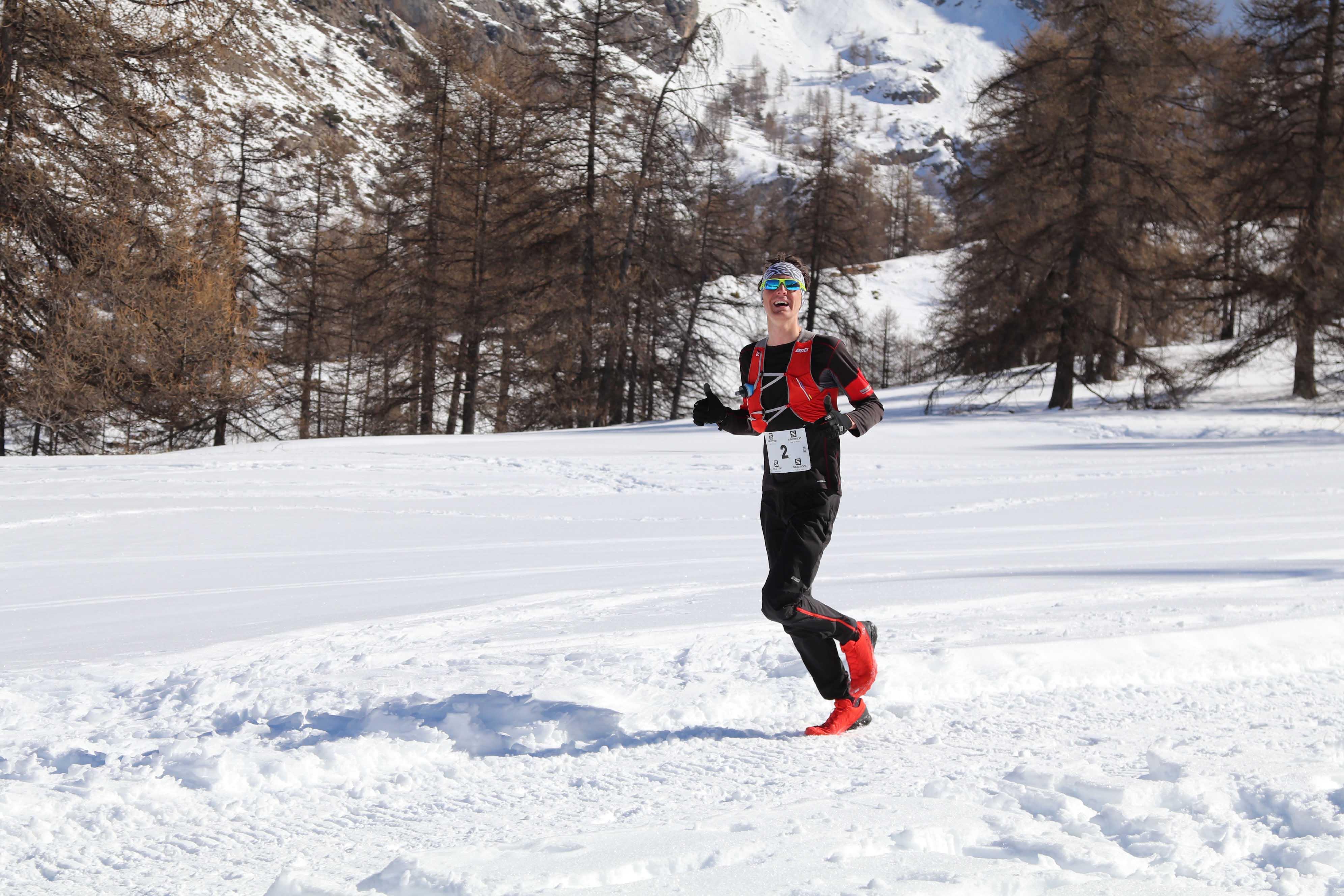 Nathan Jovet vainqueur 22 km photo Robert Goin - UBAYE SNOW TRAIL SALOMON UNE 8EME EDITION FORT REUSSIE ! 19-02-2017 RESULTATS ET VIDEO