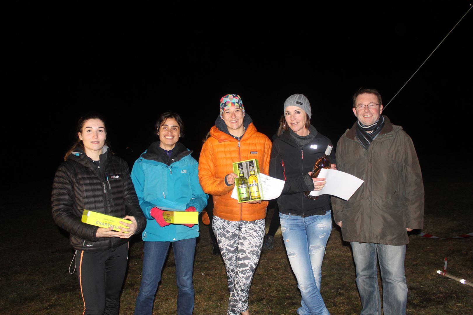 Podium filles du 8km - RESULTATS ET COMMENTAIRES DU TRAIL DU SAPPEY EN CHARTREUSE (38) -18-02-2017