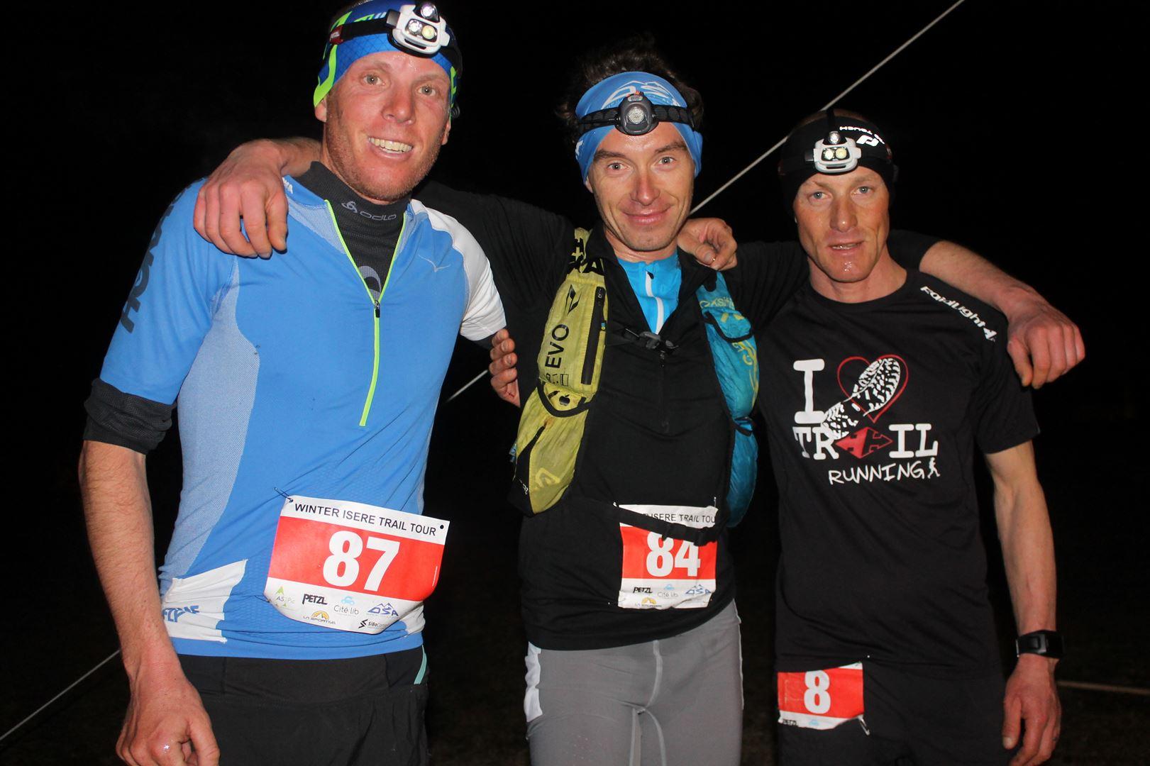 Podium hommes 16km - RESULTATS ET COMMENTAIRES DU TRAIL DU SAPPEY EN CHARTREUSE (38) -18-02-2017