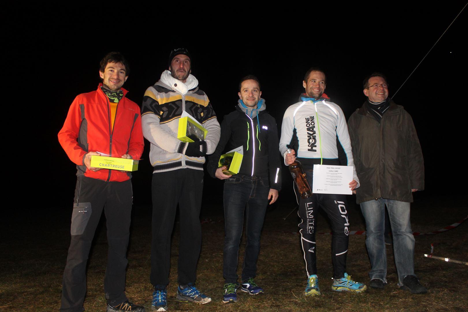 Podiums homems du 8km - RESULTATS ET COMMENTAIRES DU TRAIL DU SAPPEY EN CHARTREUSE (38) -18-02-2017