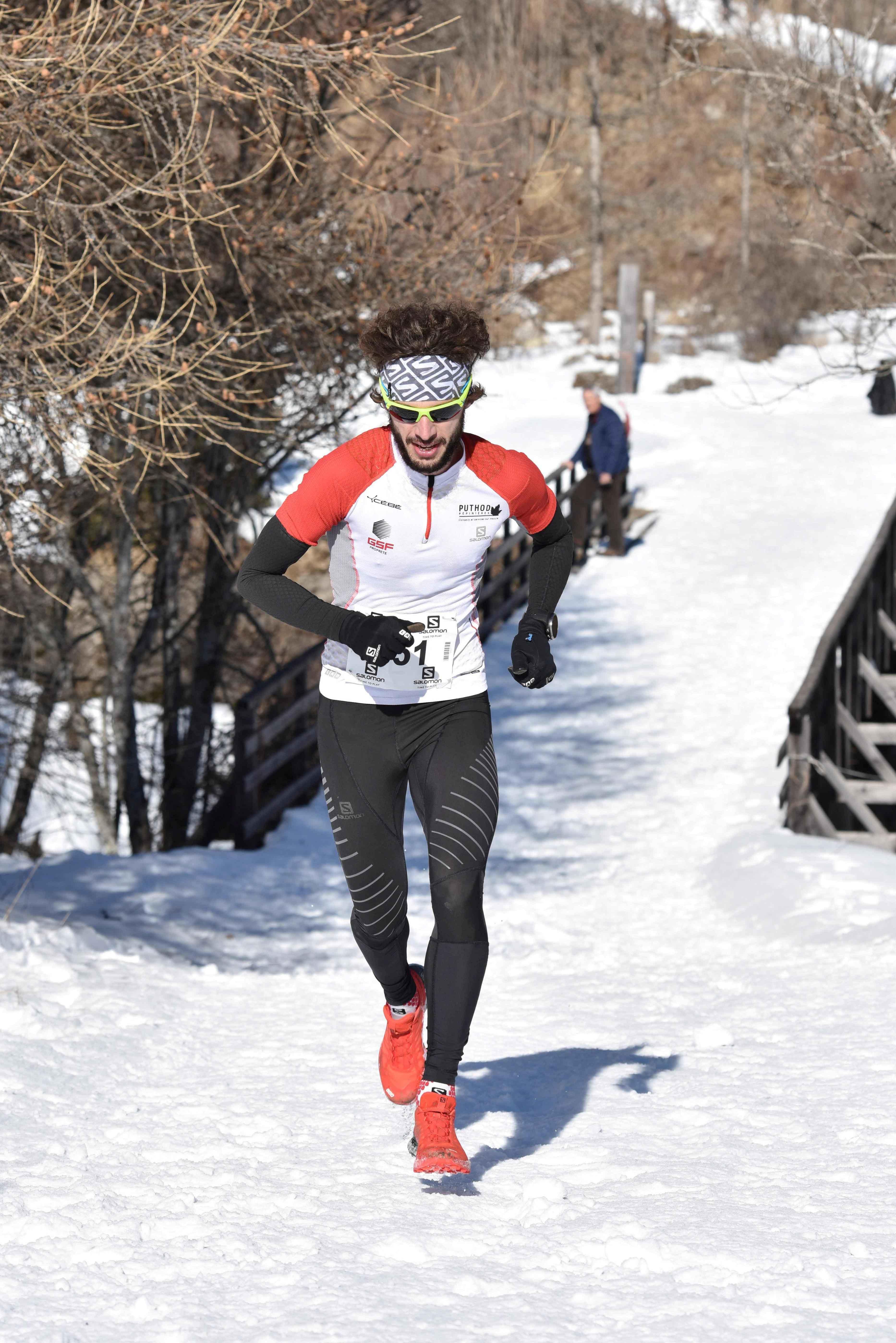 Thibaut Baronian vainqueur 9 km photo JMK Consult - UBAYE SNOW TRAIL SALOMON UNE 8EME EDITION FORT REUSSIE ! 19-02-2017 RESULTATS ET VIDEO