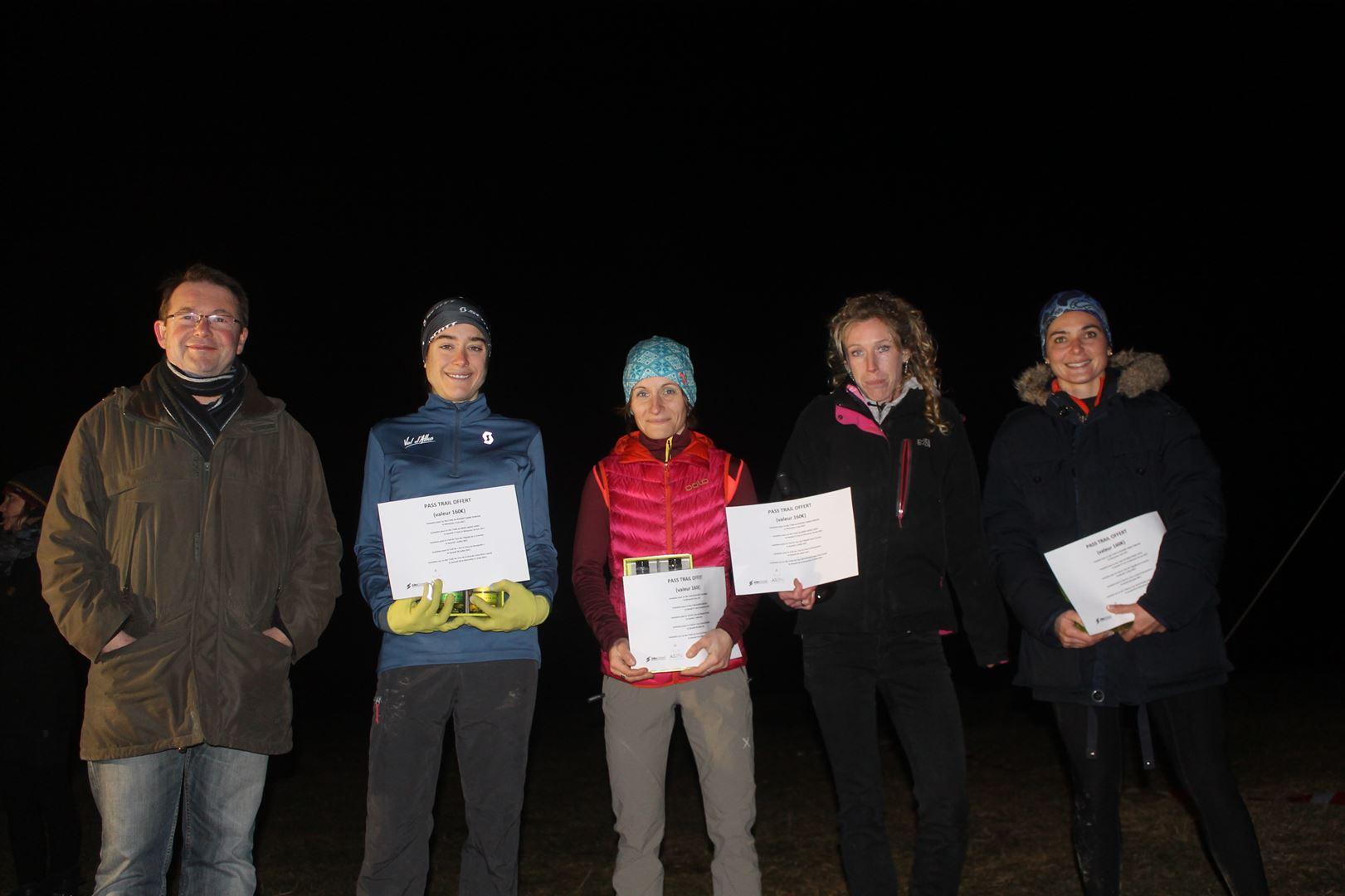 podium femmes 16km - RESULTATS ET COMMENTAIRES DU TRAIL DU SAPPEY EN CHARTREUSE (38) -18-02-2017