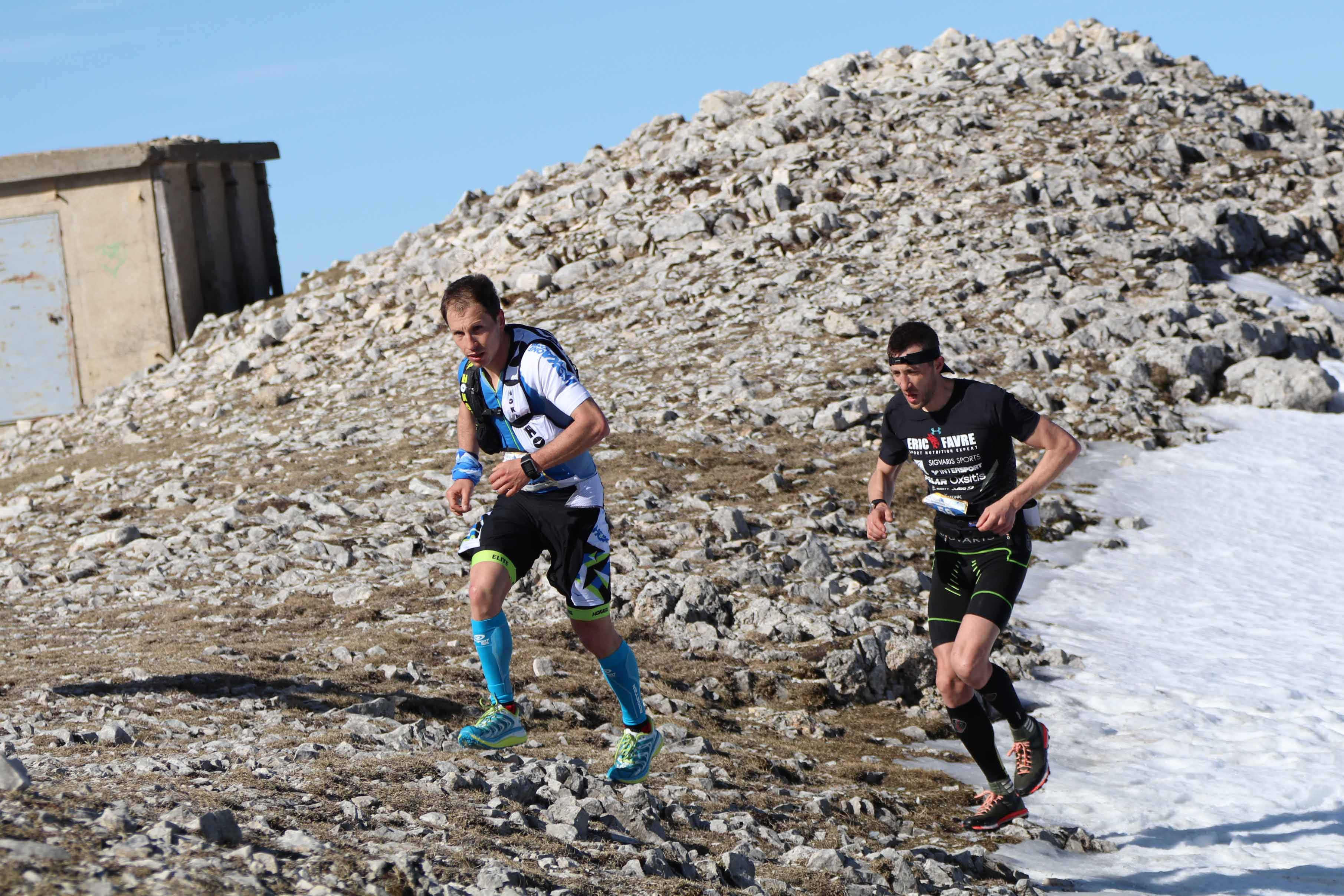 4 Nicolas Martin et Romain Maillard photo Robert Goin - RESULTATS ET COMMENTAIRES DU TRAIL DU VENTOUX 19-03-2017 (par Robert Goin)
