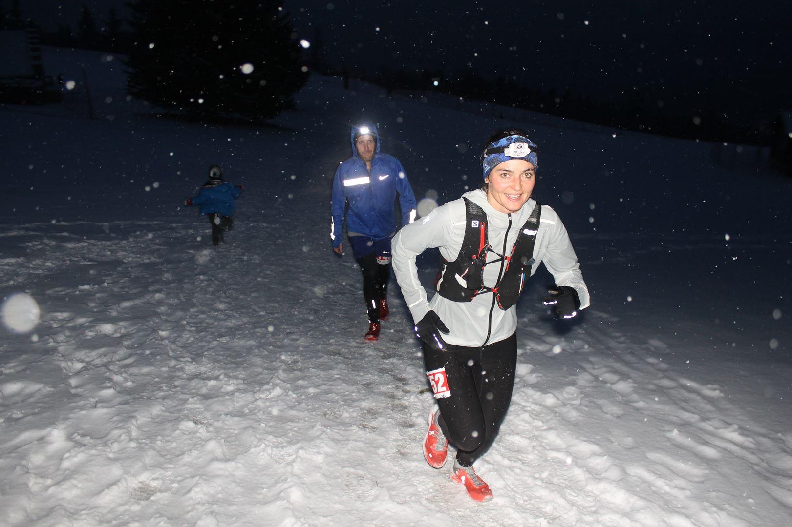 Laure Rebuffet 5ème fille du 16km - RESULTATS , COMMENTAIRES ET PHOTOS DU TRAIL BLANC DE LANS EN VERCORS (38) 04-03-2017