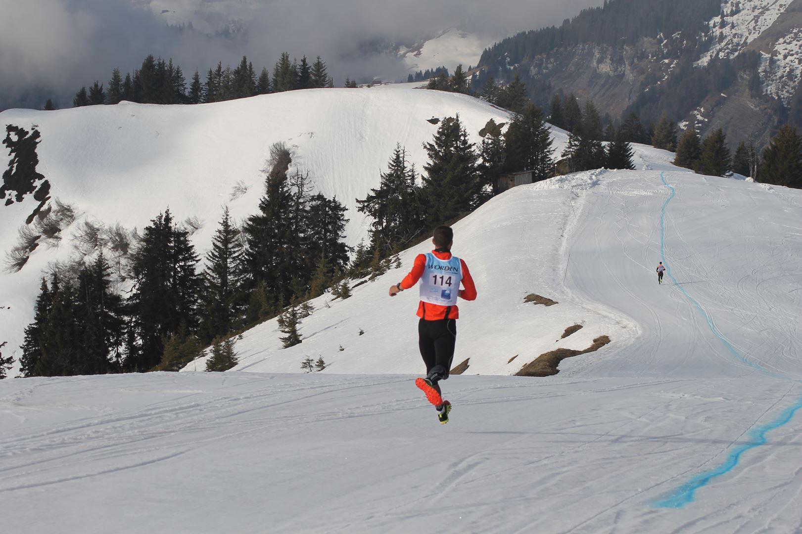 Bastien Gachet motivé pour revenir sur Fiers - RESULTATS ET REPORTAGE SUR LA 8EME EDITION DE l'ARAVIS SNOW TRAIL  (LA GIETTAZ 73)