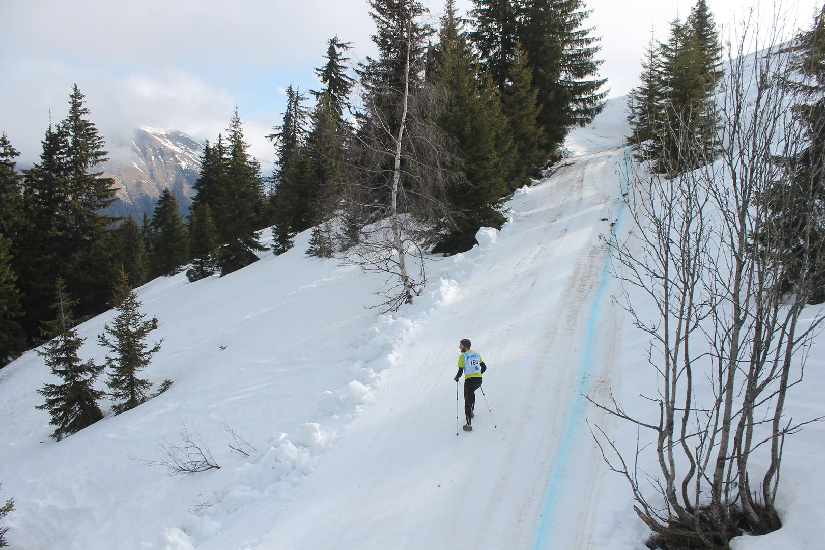 courage un dernier mur à franchir - RESULTATS ET REPORTAGE SUR LA 8EME EDITION DE l'ARAVIS SNOW TRAIL  (LA GIETTAZ 73)