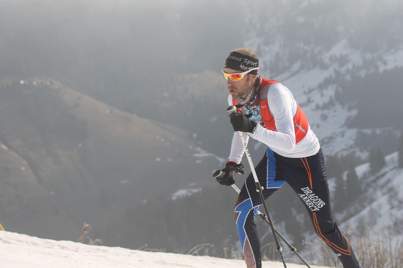 passage du 1er parcours soft - RESULTATS ET REPORTAGE SUR LA 8EME EDITION DE l'ARAVIS SNOW TRAIL  (LA GIETTAZ 73)