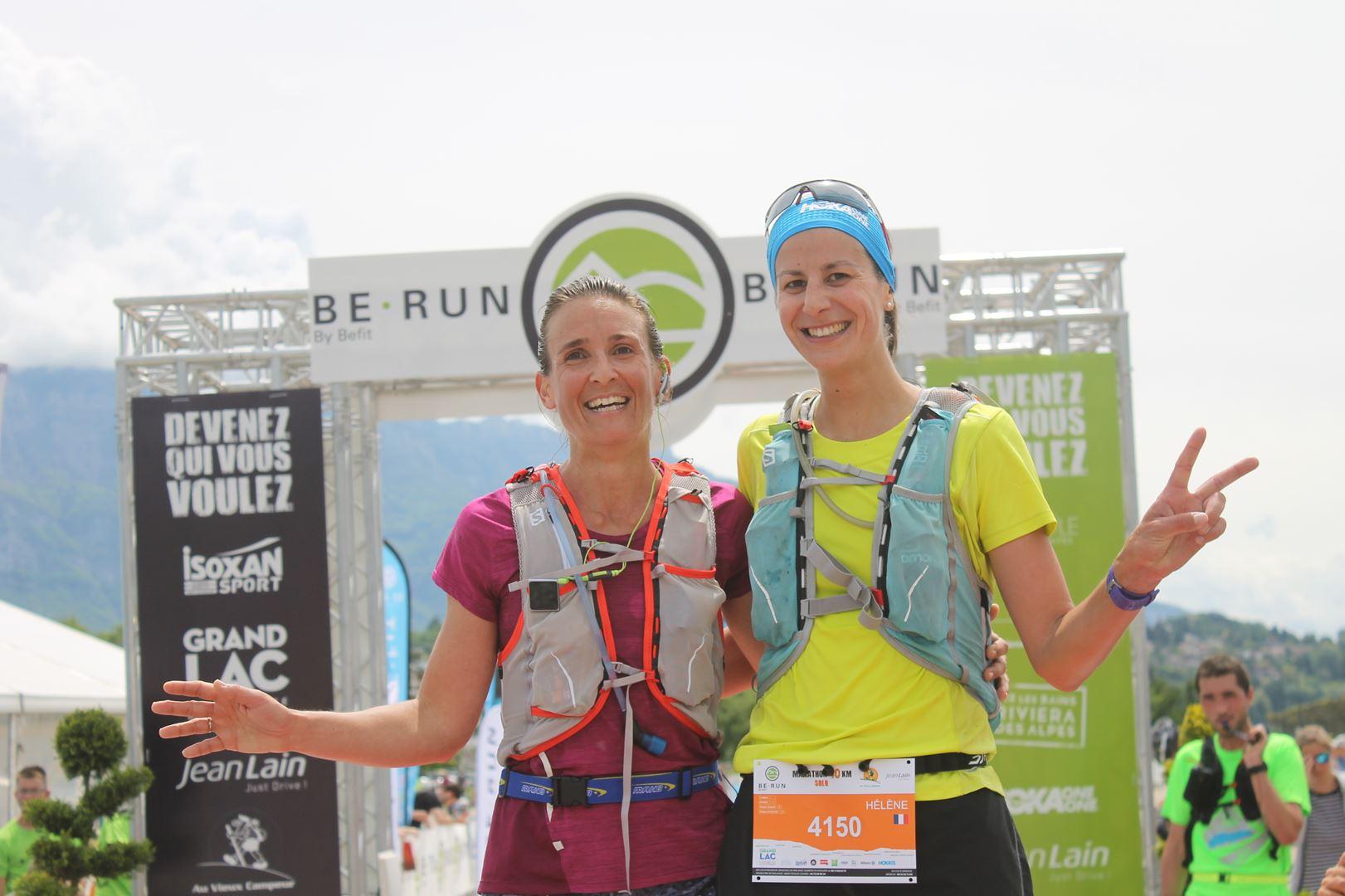2ème et 3ème filles du 40km - RESULTATS ET PHOTOS DU TRAIL BE RUN - DUINGT (74)-AIX LES BAINS (73) - 14-05-2017