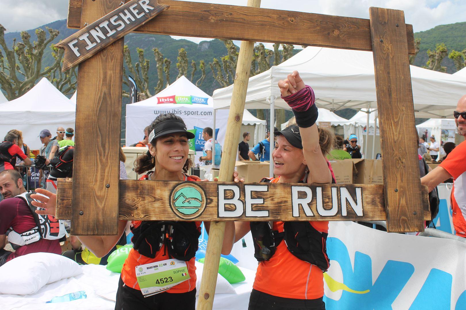 Sophie et Claire Lyse 1ère du 40km duo - RESULTATS ET PHOTOS DU TRAIL BE RUN - DUINGT (74)-AIX LES BAINS (73) - 14-05-2017