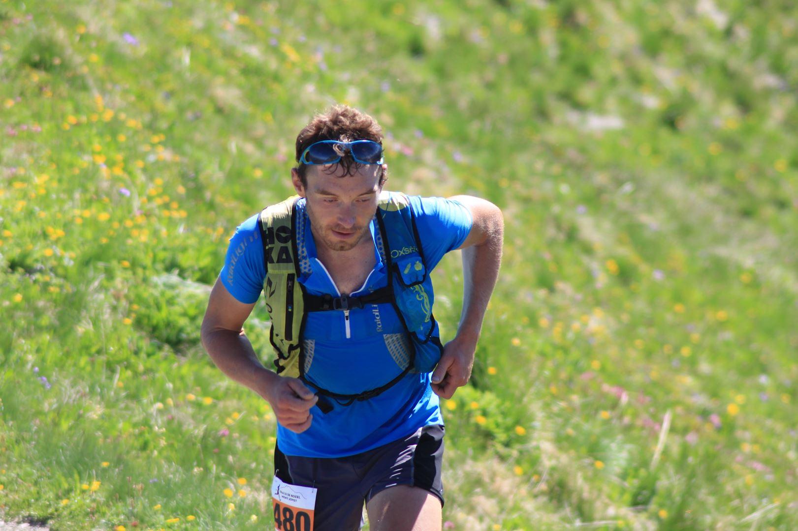 Nicolas Hairon en tête au Mt Jovet - RESULTATS ET PHOTOS DU TRAIL DE BOZEL (73)  18-06-2017