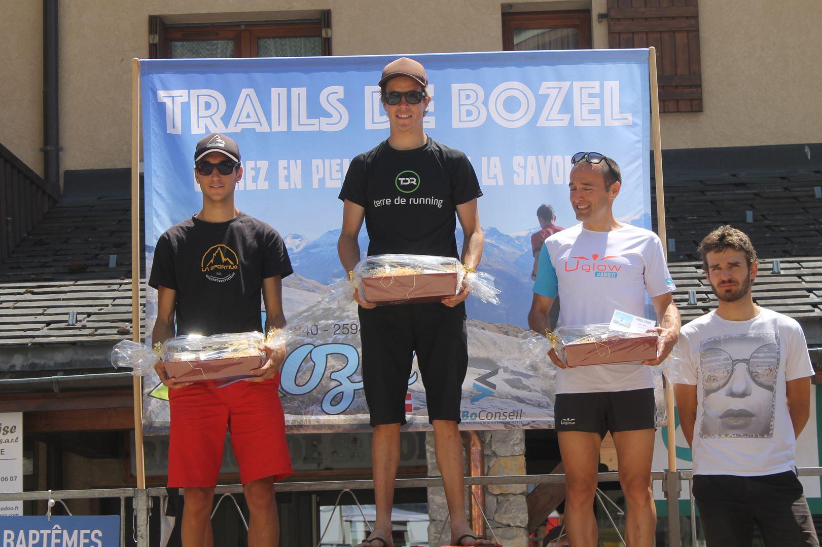 podium hommes du 19km - RESULTATS ET PHOTOS DU TRAIL DE BOZEL (73)  18-06-2017
