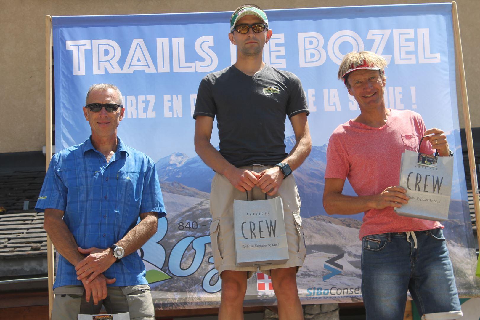 podium hommes du 38km - RESULTATS ET PHOTOS DU TRAIL DE BOZEL (73)  18-06-2017