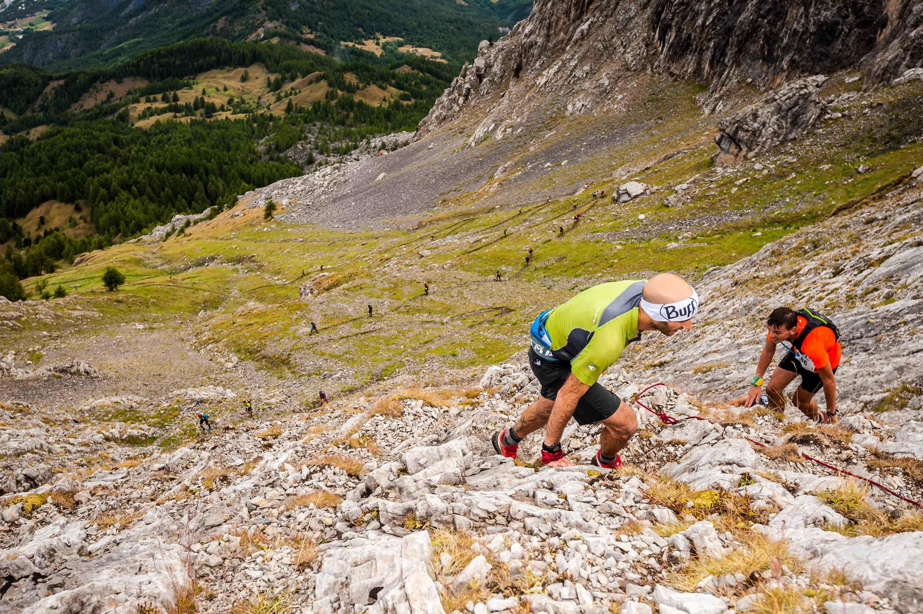 7 2017 Ambiance 42 km photo Rémi Morel - Juliet Champion, Mathieu Martinez et Romain Wyndaele, vainqueurs du Salomon Over the Mountain Running Challenge 2017