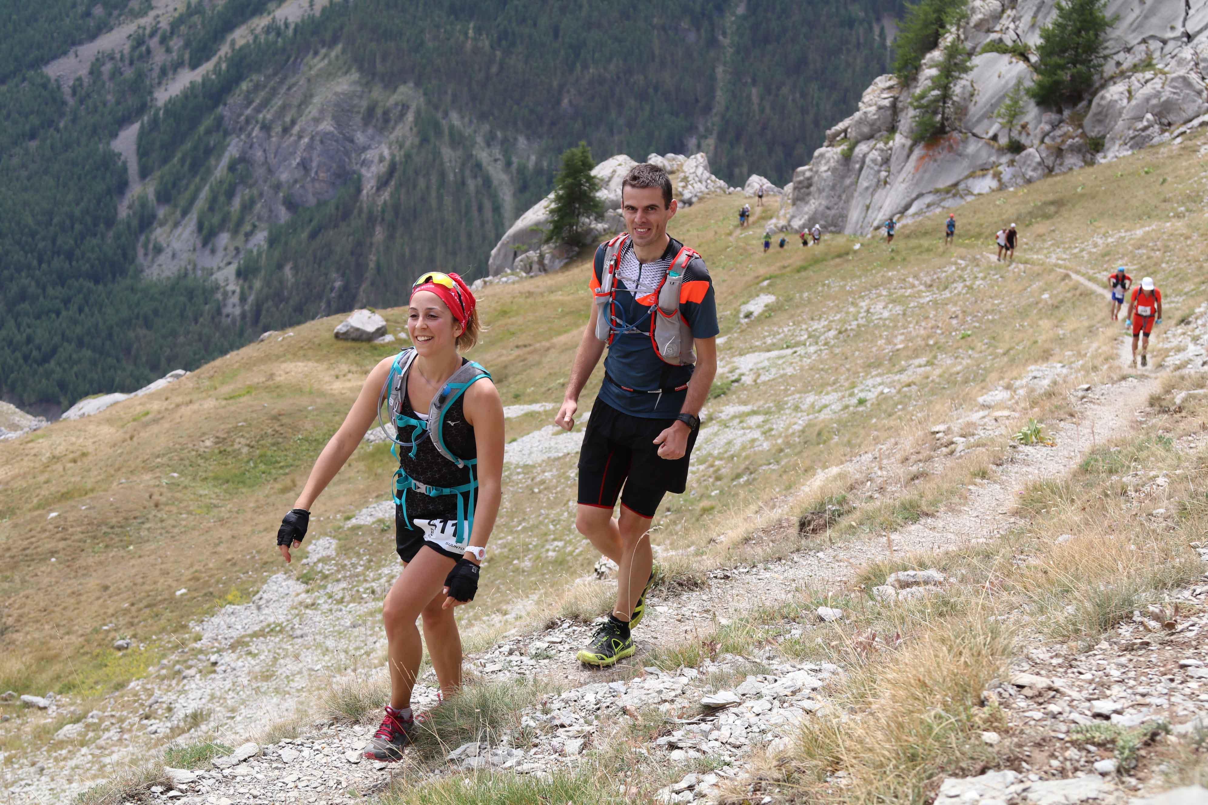 8 2017 Ambiance 42 km photo Robert Goin - Juliet Champion, Mathieu Martinez et Romain Wyndaele, vainqueurs du Salomon Over the Mountain Running Challenge 2017