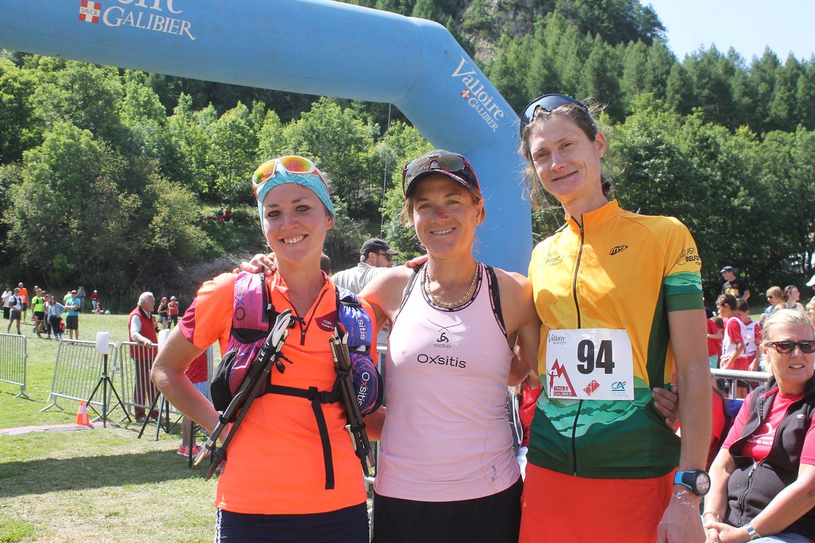 Podium femmes du 46km - RESULTATS DU 9EME TRAIL DU GALIBIER (VALLOIRE 73) 20-08-2017